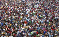 Crowd at the Palio horse race in Siena