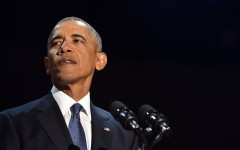 President Obama speaks during his farewell address in Chicago on Tuesday.
